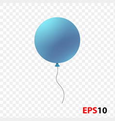 ballon realistic blue isolated vector image