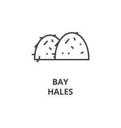 Bay hales line icon outline sign linear symbol vector