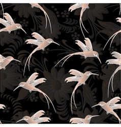 beautiful seamless patterncolibri vector image