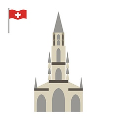 Berne Cathedral landmark of Switzerland vector image
