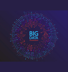 big data visualization concept design vector image