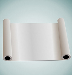 Blank paper roll for design vector