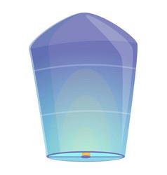 Blue floating lantern icon cartoon style vector
