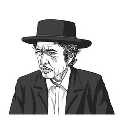 Bob dylan drawing vector
