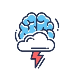 Brainstorming flat design single isolated icon vector