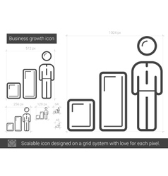 Business growth line icon vector image