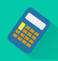 Calculator modern design flat icon with long shado vector