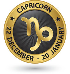 Capricorn zodiac gold sign virgo symbol vector