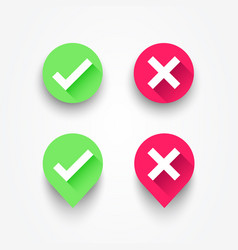 check box list icons set vector image