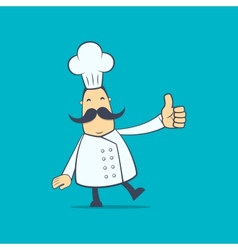 chef in various poses vector image