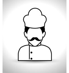 chef kitchen design vector image