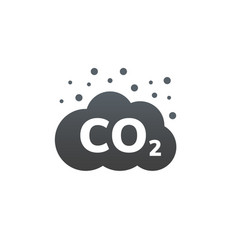 co2 emissions icon carbon gas cloud vector image