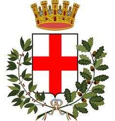 Coat of arms of milan of lombardy italy vector