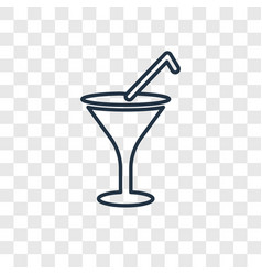cocktail glass concept linear icon isolated on vector image