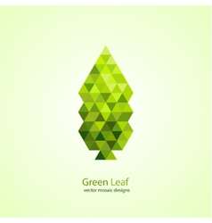 Colorful green leaf vector
