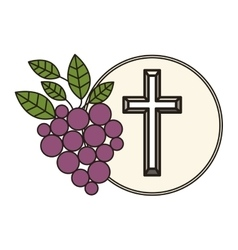 Communion religious icons vector