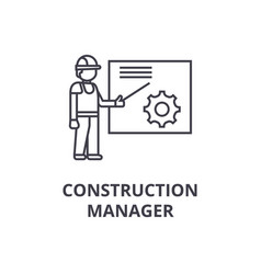 construction manager line icon sign vector image
