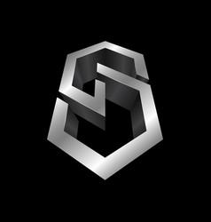 Cs 3d letter logo design template c letter logo vector