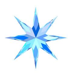 Cute blue bright motley stylized snowflake star vector