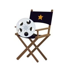 Director chair cinema movie design vector