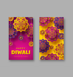 diwali festival lights holiday posters vector image