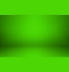 empty green studio room interior clean workshop vector image