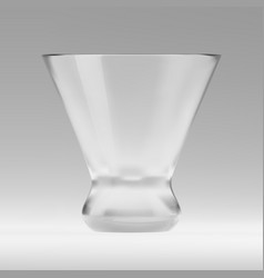 empty transparent triangular glass for vector image