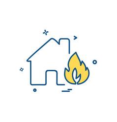 fire house icon design vector image