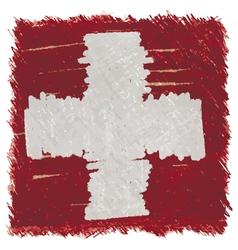 Flag of Switzerland handmade square shape vector image