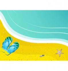 flip-flops on the sand vector image