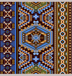 folk ornamental seamless pattern geometric ethnic vector image