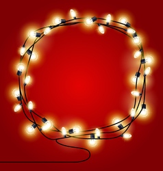 Frame of shining Christmas Lights garlands vector image