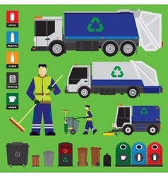 Garbage recycling vector