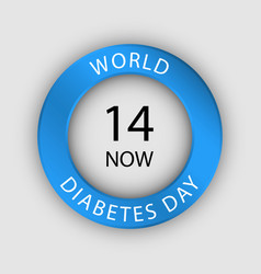 Global diabetes day concept background realistic vector