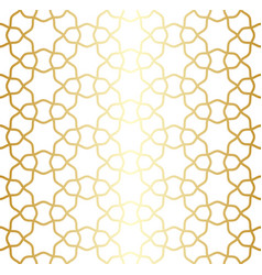 golden lattice arabic moroccan seamless pattern vector image