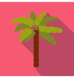 Green palm icon in flat style vector image