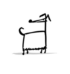 Greyhound dog sketch for your design vector
