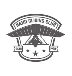 hang gliding club emblem template design element vector image