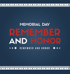happy memorial day poster card vector image