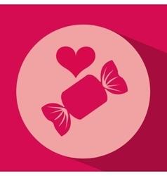 Heart red cartoon candy icon design vector