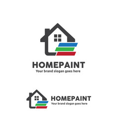 home paint logo for home decoration home vector image