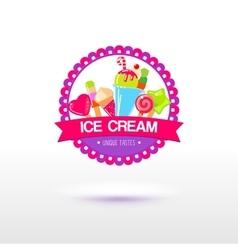 Ice cream shop logo vector