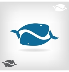 image a big whale vector image