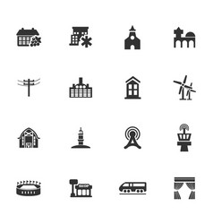 infrastucture of the city icons set vector image
