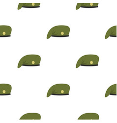 Military cap pattern flat vector