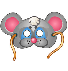 mouse mask carnival and masquerade accessories vector image