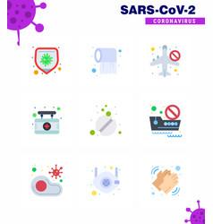 Novel coronavirus 2019-ncov 9 flat color icon vector