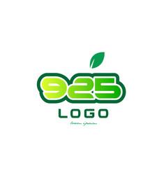 Number 925 numeral digit logo icon design vector