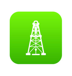 oil derrick icon green vector image