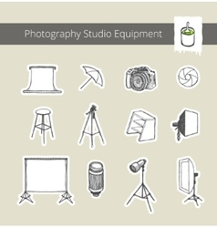 Photography Studio Equipment vector